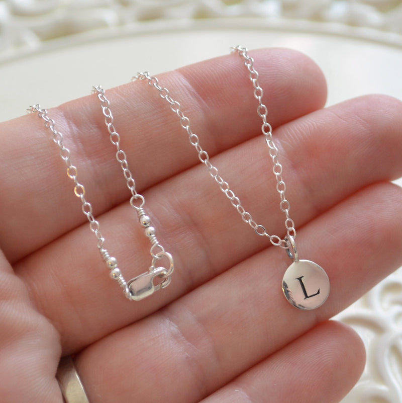 Initial Layered Necklaces in Sterling Silver for Mom