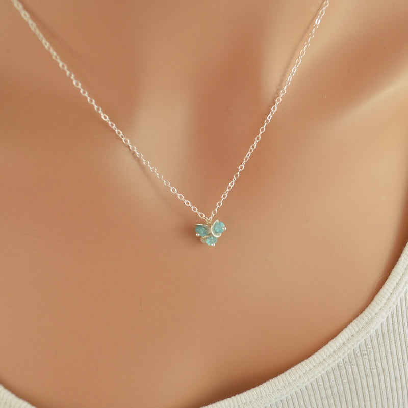 Sterling Silver Necklace with Apatite Gemstone