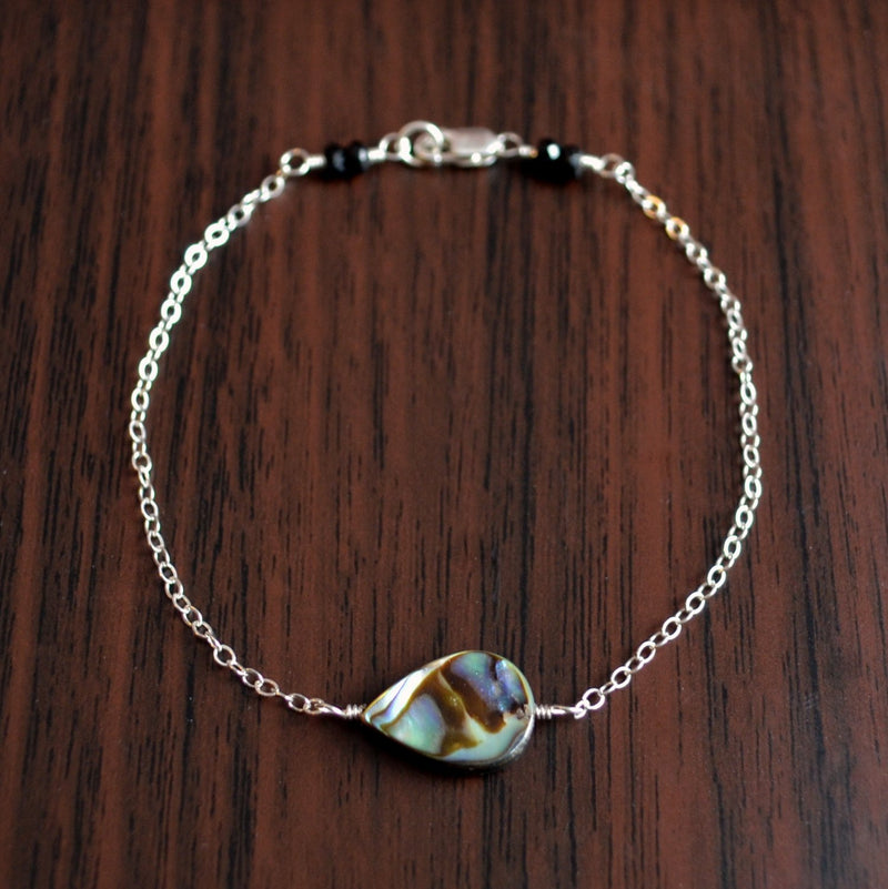Elegant abalone necklace