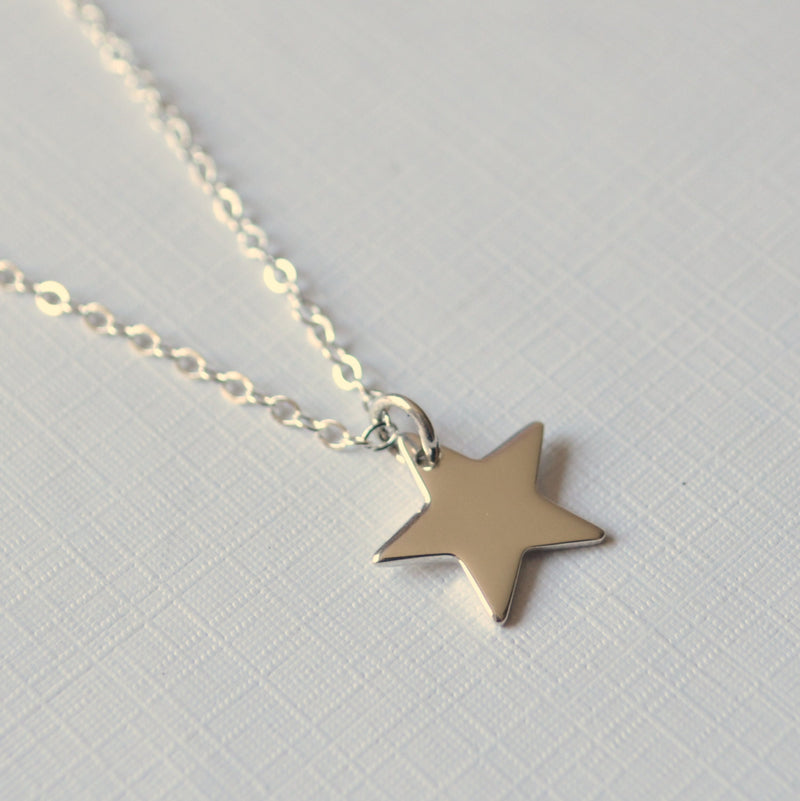 Sterling Silver Star Necklace for Girls