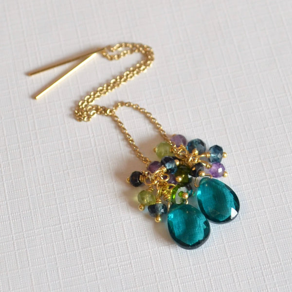 Teal Earrings, Made to Order