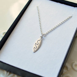 Surfboard Necklace in Sterling Silver for Boys or Girls