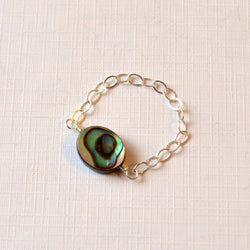 Abalone Ring with Paua Shell