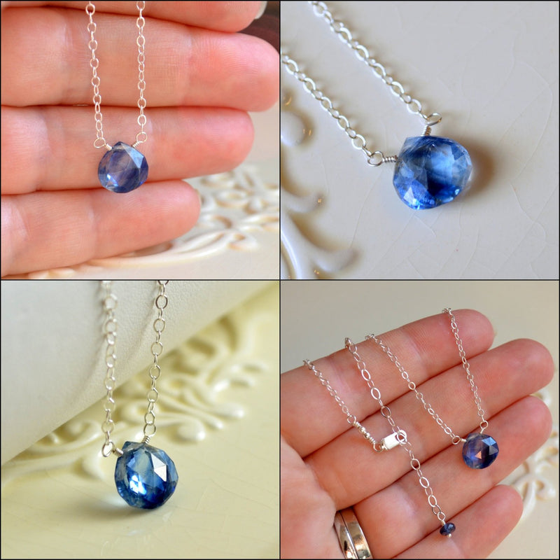 Royal Blue Necklace, Kyanite Gemstone