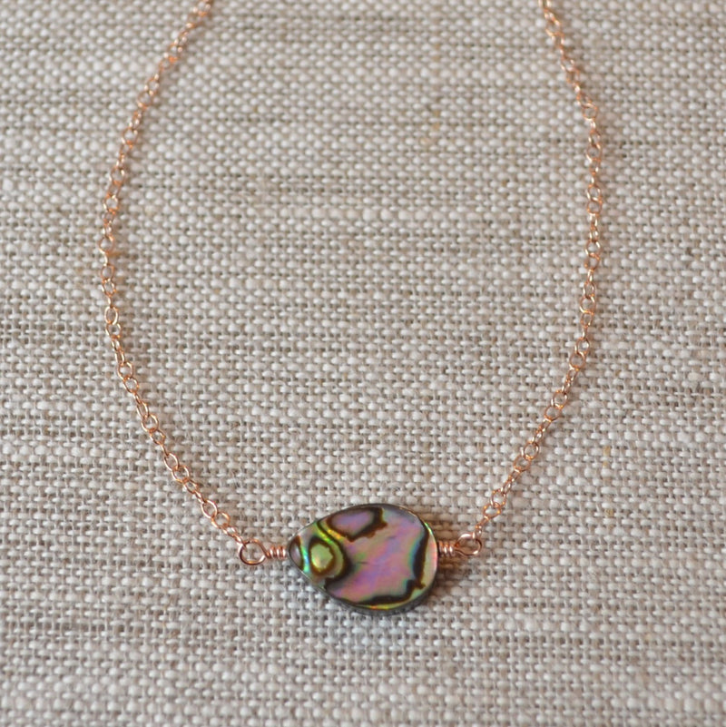 Abalone Shell Choker Necklace with Paua Shell