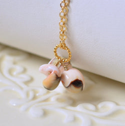 Sea Shell Necklace, Real Seashell, Pale Pink