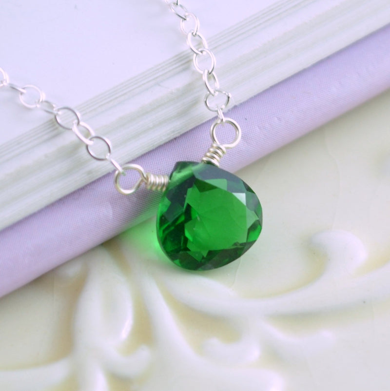 Emerald Green Quartz Necklace