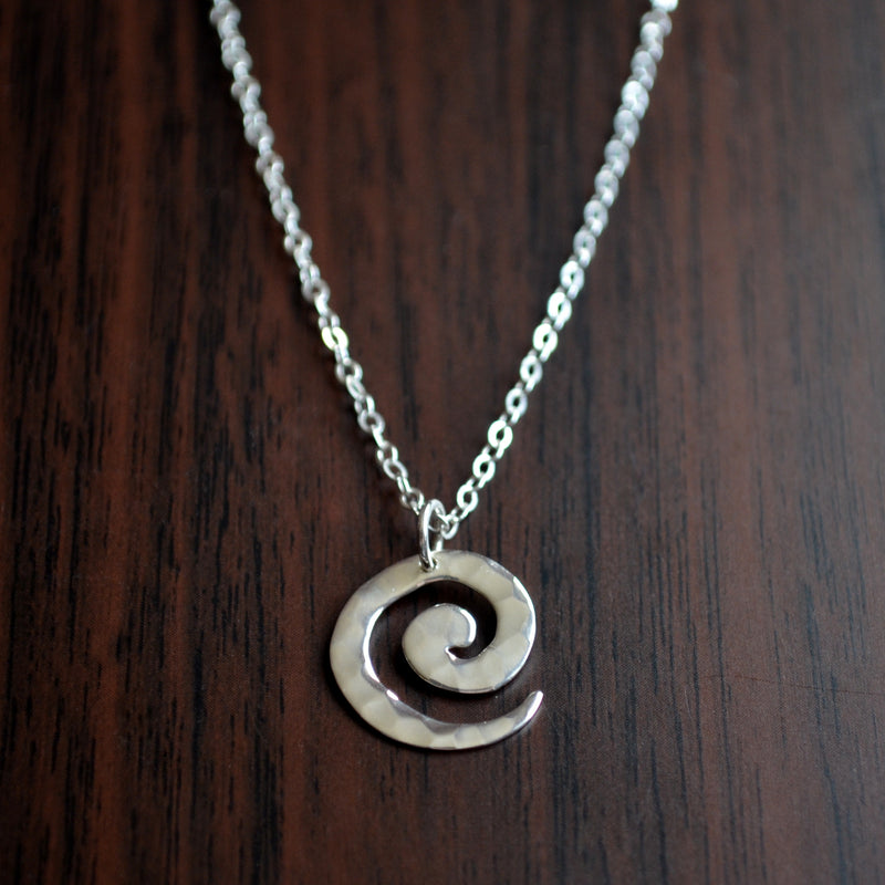 Sterling Silver Spiral Necklace