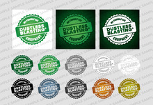 Load image into Gallery viewer, We Use Dustless Blasting® Equipment Badge - Download
