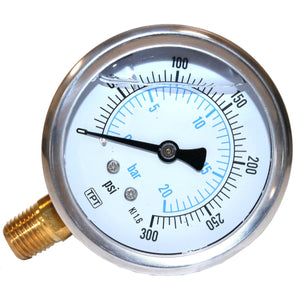 "1/4"" Air Pressure Gauge Liquid Filled  -  134366/001"
