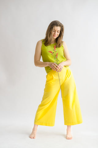 Judy Culottes in Sunshine- Trousers, Size L