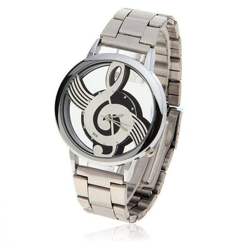 Image of Stylish Treble Clef (G Clef) Musical Watch