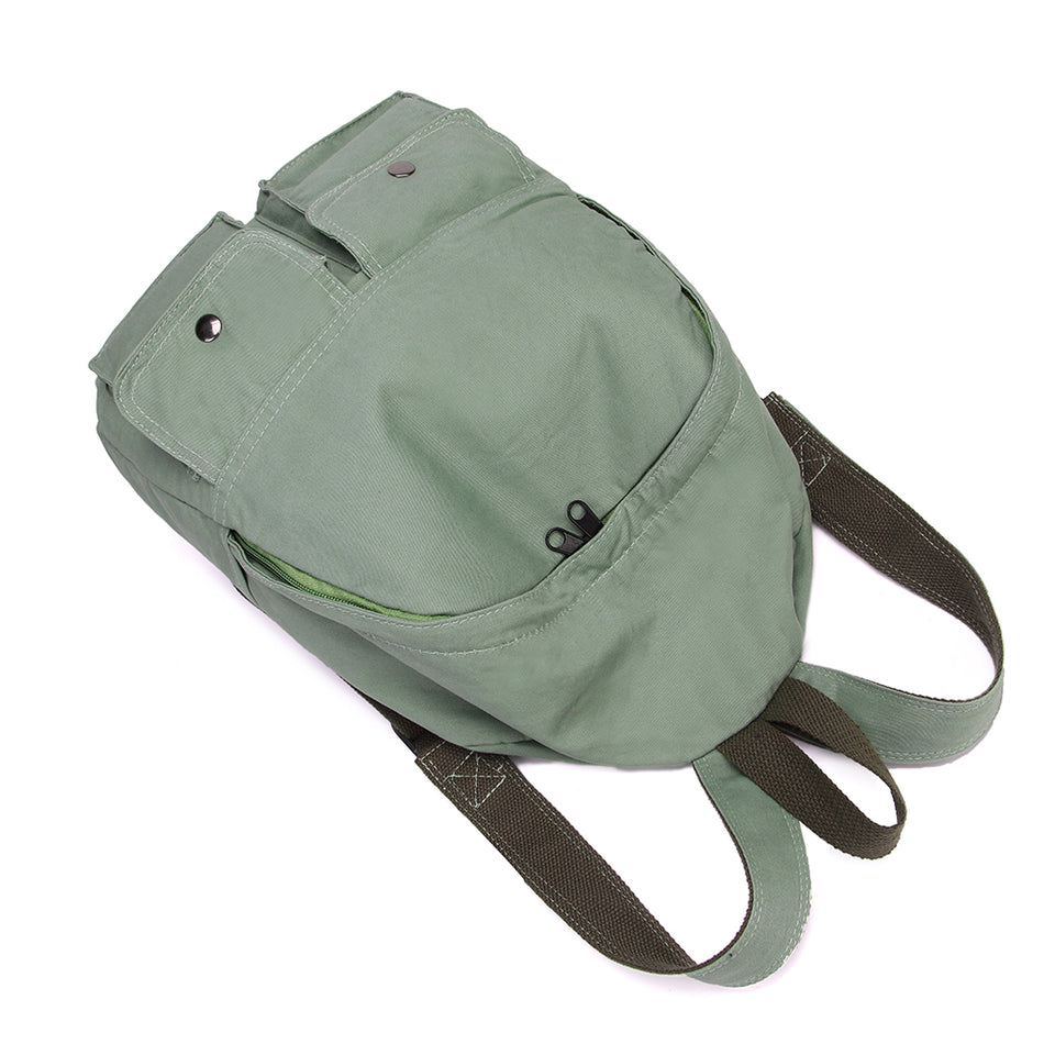Soft canvas backpack in Green