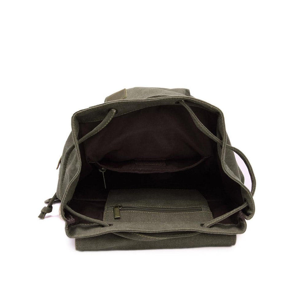 Canvas satchel backpack in Off black