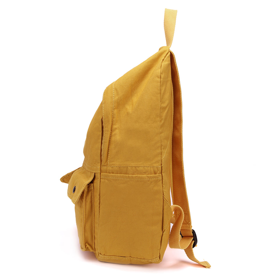 Soft canvas backpack in Yellow