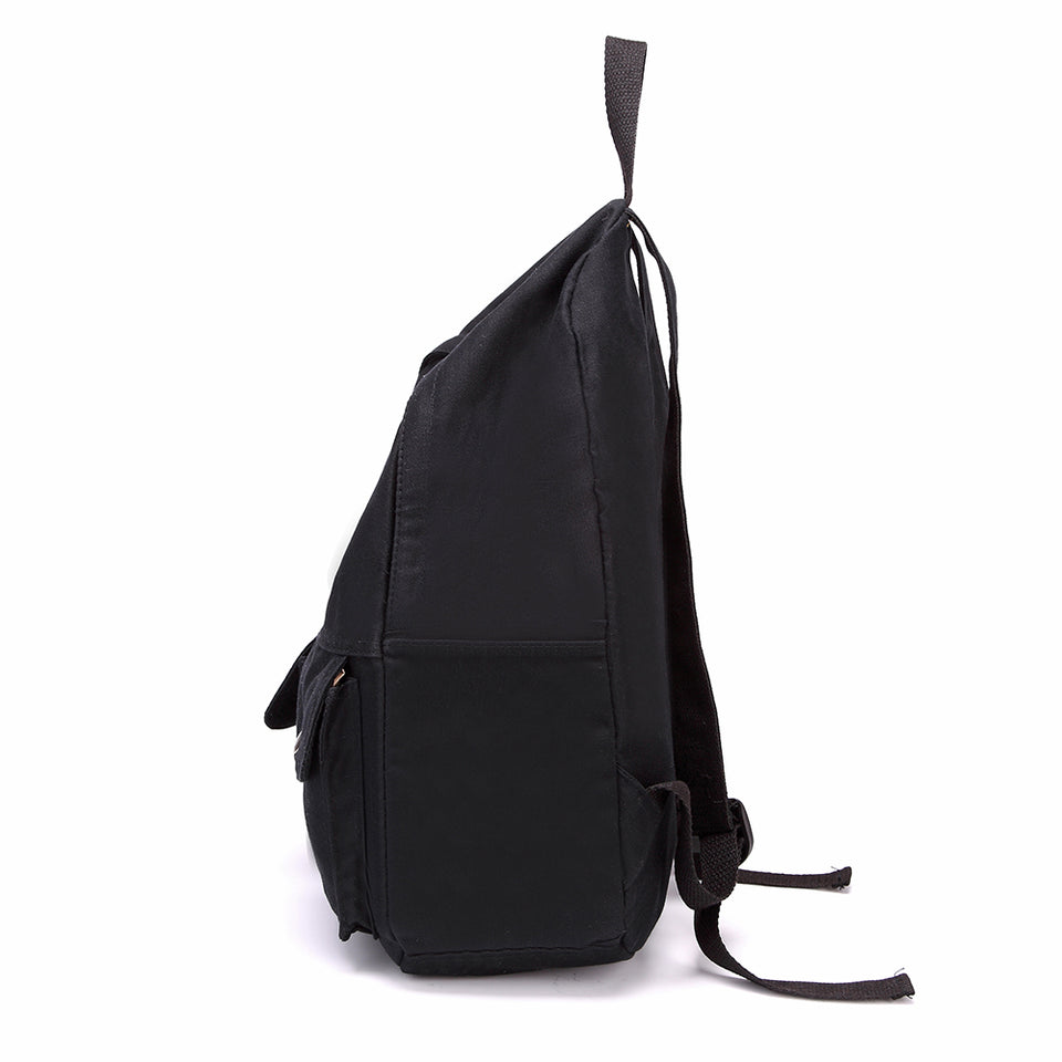 Soft canvas backpack in Black