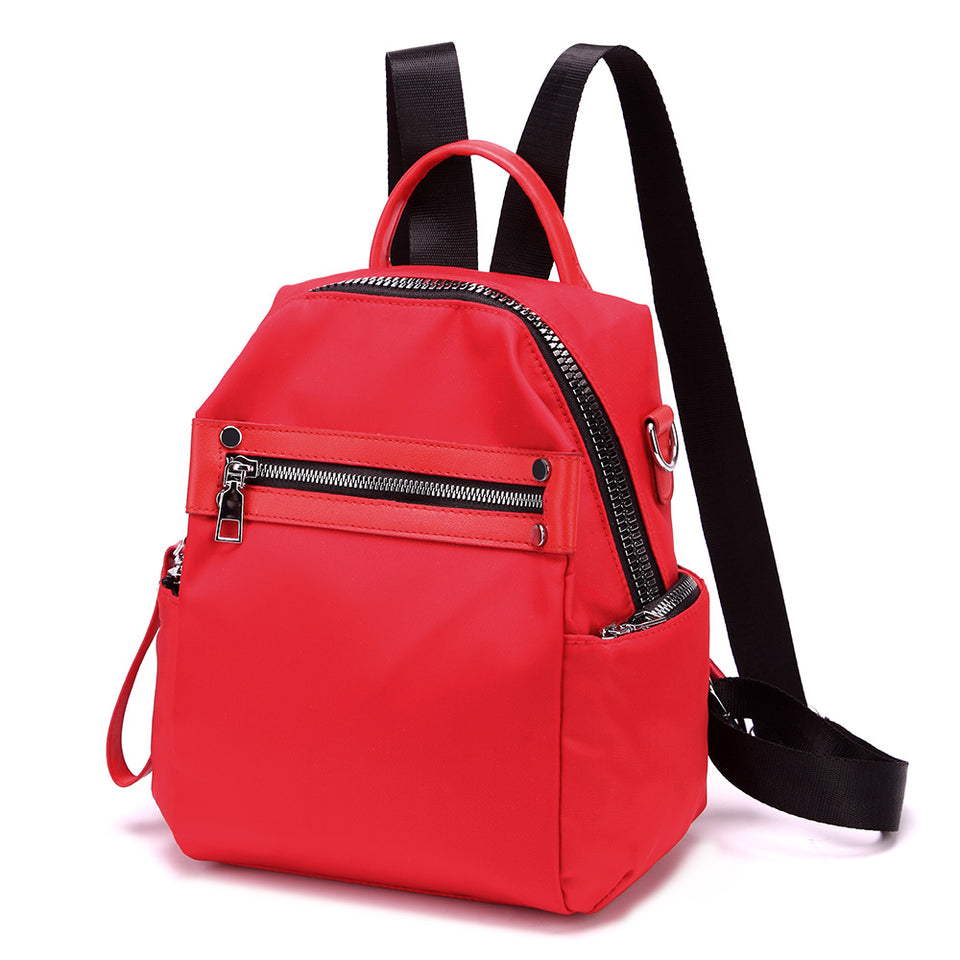Studded nylon backpack in Red