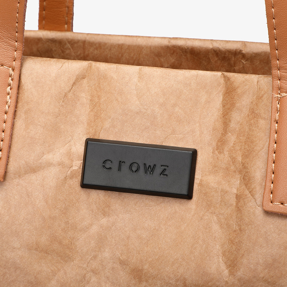 Large creased shopper tote in black