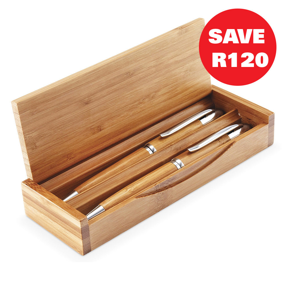 Unity Bamboo Pen And Pencil Set