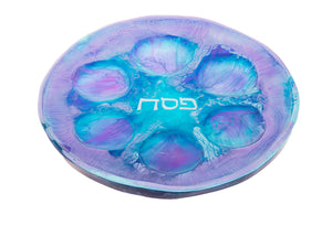 Resin Blueberry Ocean Seder Plate