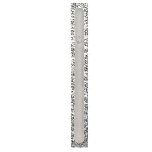 Clear Mezuzah 12 Cm With Printed Shin And Frame