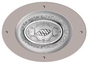 Camilletti Oval Challah Tray With 925 sp Silver BEIGE