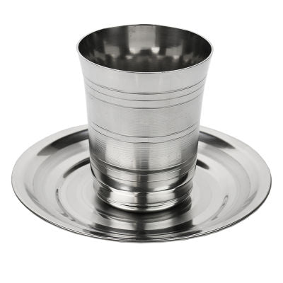 Kiddush Cup Stainless Steel set