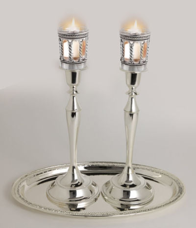 Safety Candle Sticks With Neronim Holder Attached 13.5
