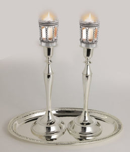 Safety Candle Sticks With Neronim Holder Attached 13.5""
