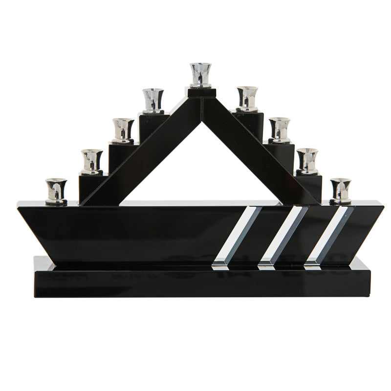 Blue Belt Crystal Menorah