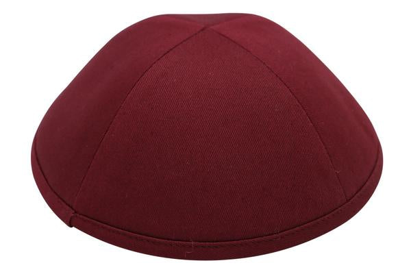 Ikippah Burgandy Cotton Yarmulka