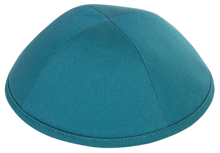 Teal Green Cotton Yarmulka