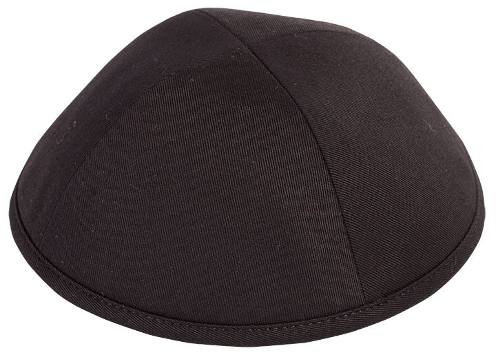 Black Cotton Yarmulka