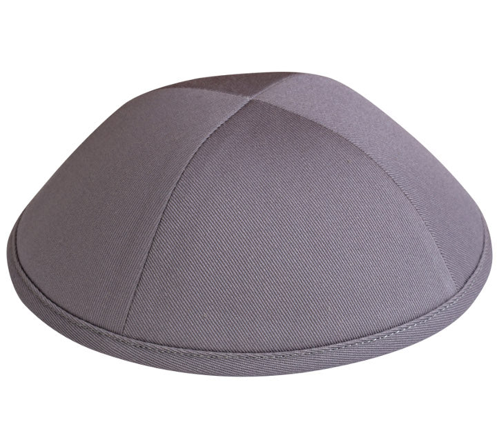 Medium Grey Cotton Yarmulka