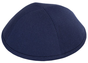 Navy Cotton Yarmulka