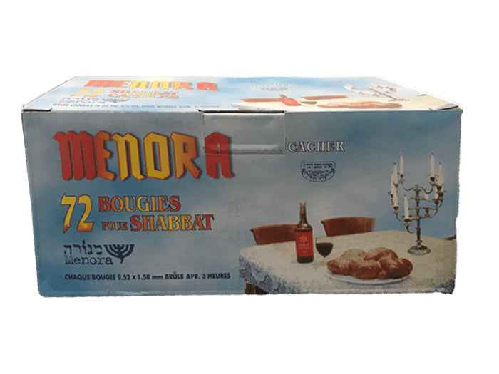 Shabbos Candles - Box Of 72
