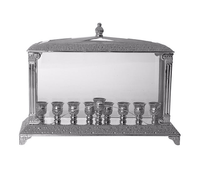 Menorah Wall Style  Silver Plated