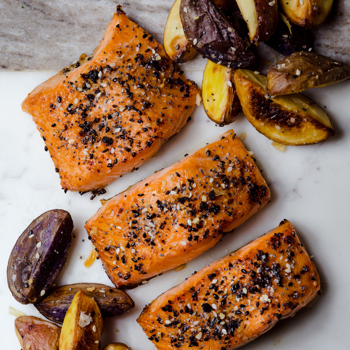 Roasted Salmon and Potatoes With Anything & Everything Seasoning Blend