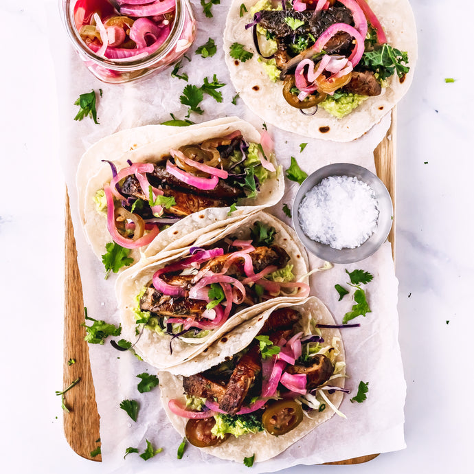 Vegan Mushroom Tacos With Carne Asada Seasoning Blend