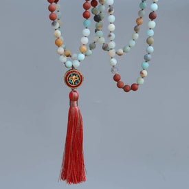 Collier Mala traditionnel Tibétain L'EVEIL de Bouddha - MALA