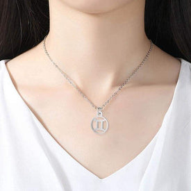 Collier Symbole Zodiacal Plaqué Argent Misty - Collier