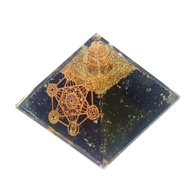 Orgonite Pyramide TOURMALINE Cube Metatron - Protection Energétique Puissante - Orgonite