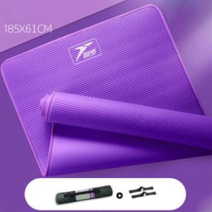 Tapis Exercices YOGA PILATES Grande Epaisseur 15mm - Violet - Tapis de yoga