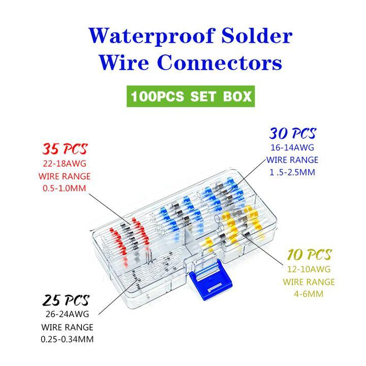 Waterproof Solder Wire Connectors (2019 Upgraded)