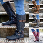 Women's 2020 Autumn & Winter Vintage Leather Zipper High Boots