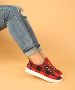 Plaid Slip-On Round Toe Flat Sneakers [2020 New Arrival]