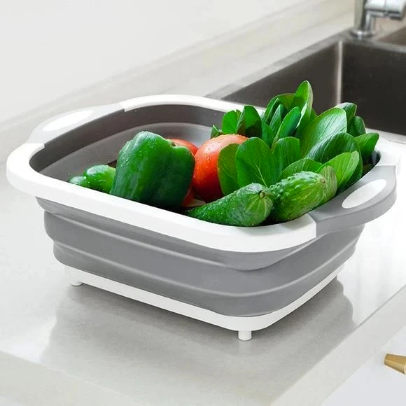 Eco-Friendly 3-in-1 Multi-Function Foldable Cutting Board, Washing Bowl & Draining Fruit Basket [Limited SALE]
