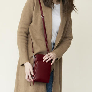Fashion Leather 3-Layers Crossbody Shoulder Bag [Premium]