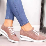 2020 Women Breathable Slip-on Platform Sneakers