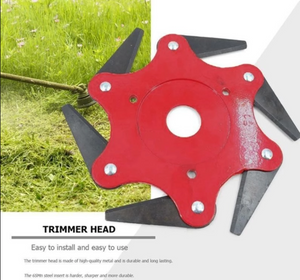 Trimmer Head with 6 Steel Razor Chain Grass Cutter For Lawn Mower